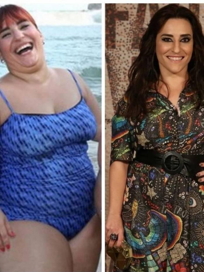Antes e depois de Simone Gutierrez: