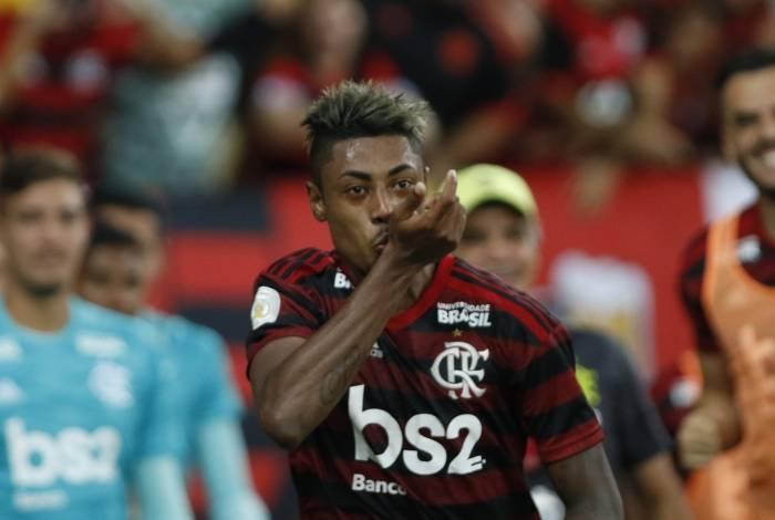 Bruno Henrique foi o destaque do jogo contra o Cruzeiro
