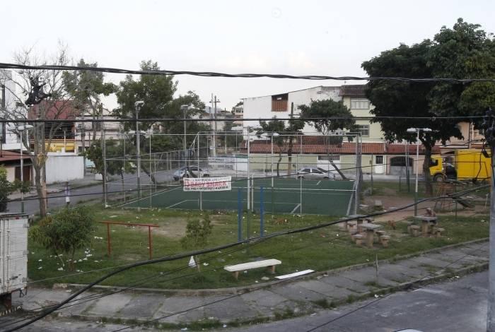 Praça das Ameixeiras, em Guadalupe, reduto de Zico Bacana