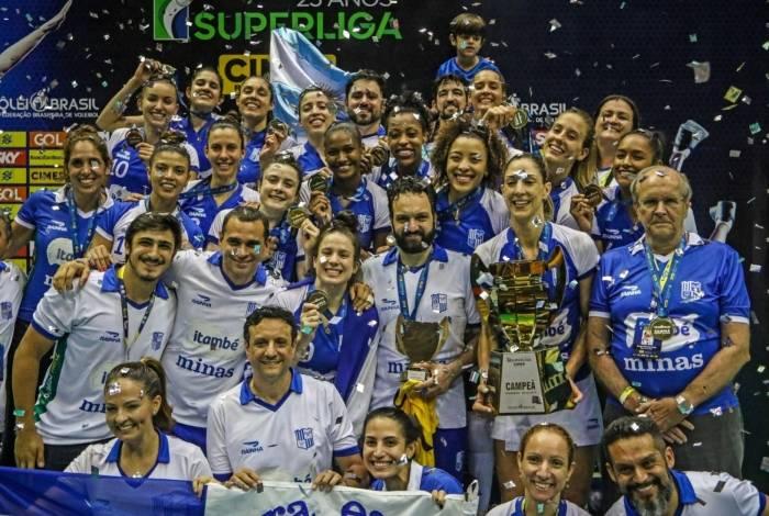 Itambé-Minas, campeão da Superliga feminina de vôlei