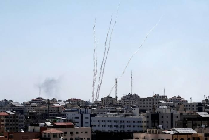 Foguetes lançados a partir da Faixa de Gaza / Foto de Arquivo