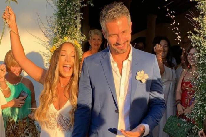 Danilo Viera se casou com Lívia Polly em maio do ano passado