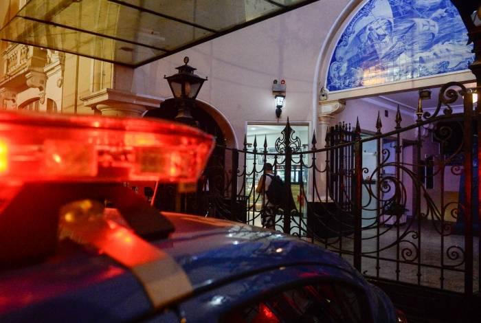 A segurança foi reforçada pela polícia em São Januário durante o protesto