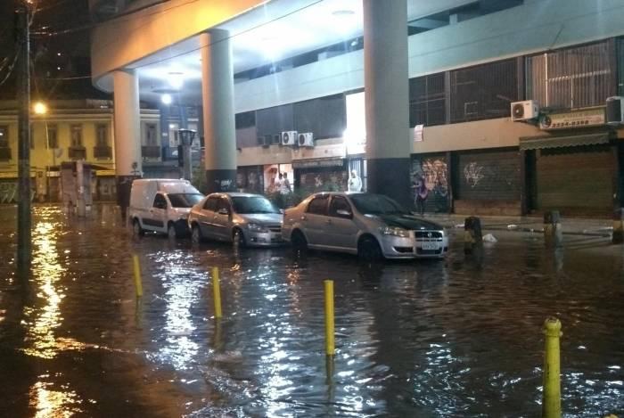 Chuva na Rua dos Inválidos, na Lapa, no último dia 7