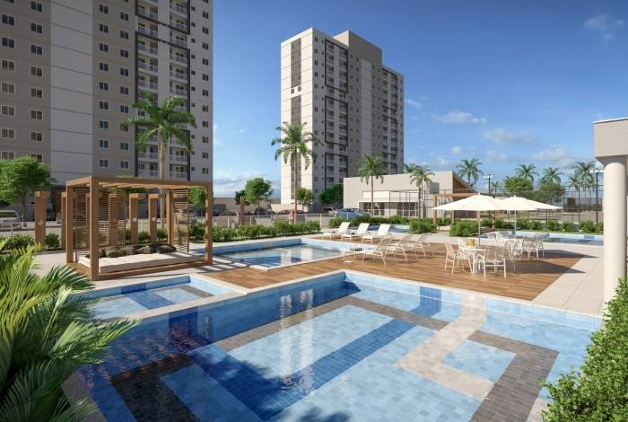 E em Nova Iguaçu, o condomínio Conceito terá piscina e o interessado ganhará registro do imóvel gratuitamente