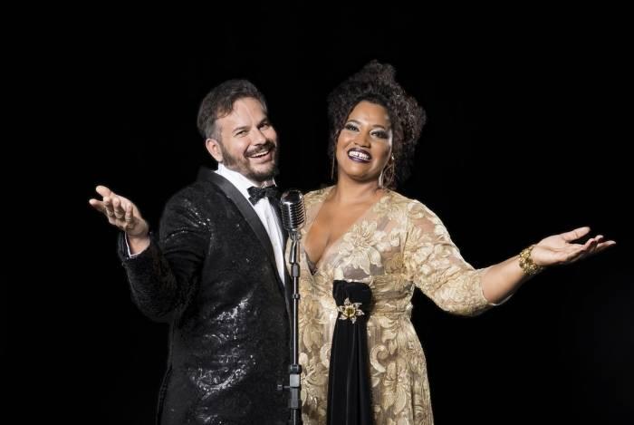 Lilian Valeska e Mauricio Baduh no musical 'Ângela Maria - Lady Crooner'