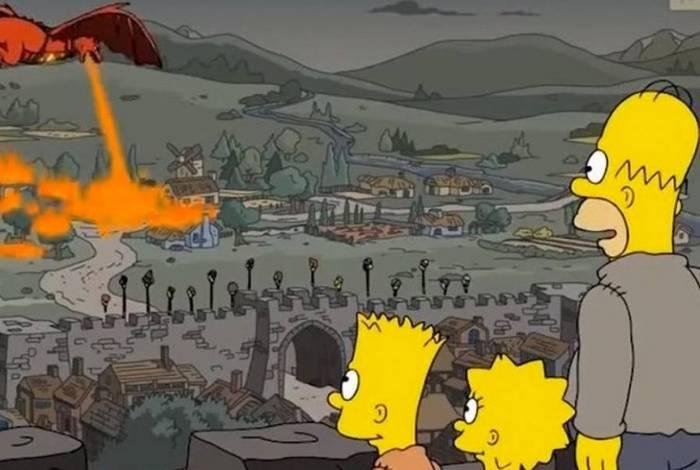 Cena de 'Os Simpsons' mostra semelhanças com 'Game of Thrones'
