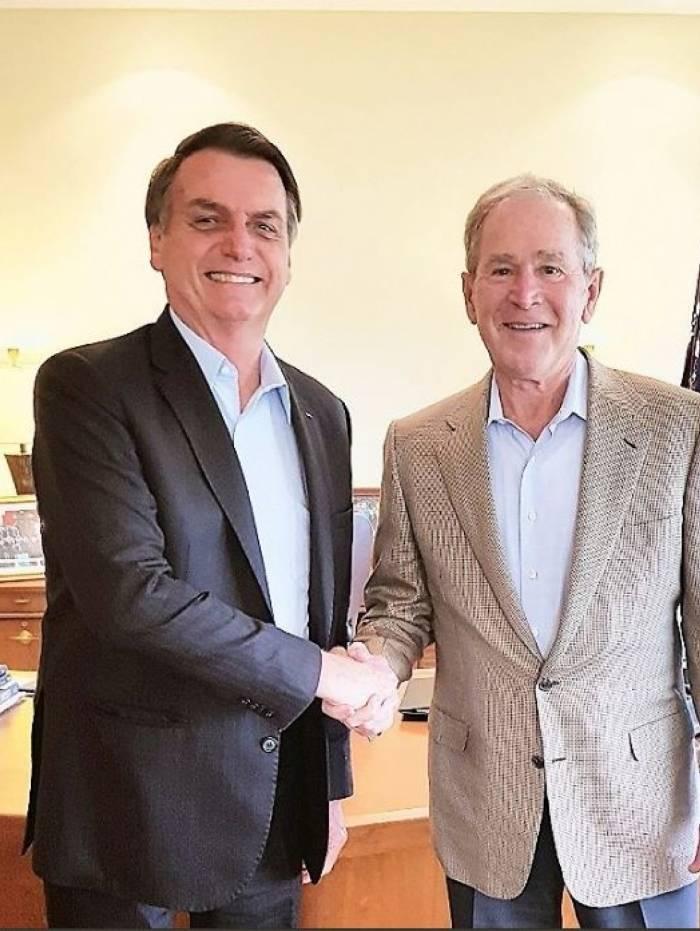 Presidente Bolsonaro encontrou o ex-presidente George W. Bush