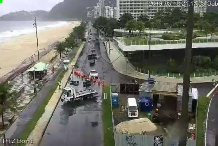 Avenida Niemeyer voltou a ser fechada no sentido Leblon