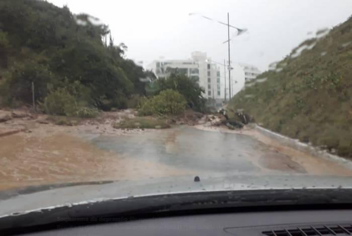 Chuvas fortes atingiram Arraial do Cabo, na Região dos Lagos