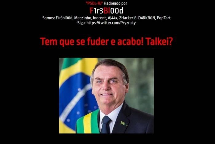 Site do PSOL-RJ foi hackeado