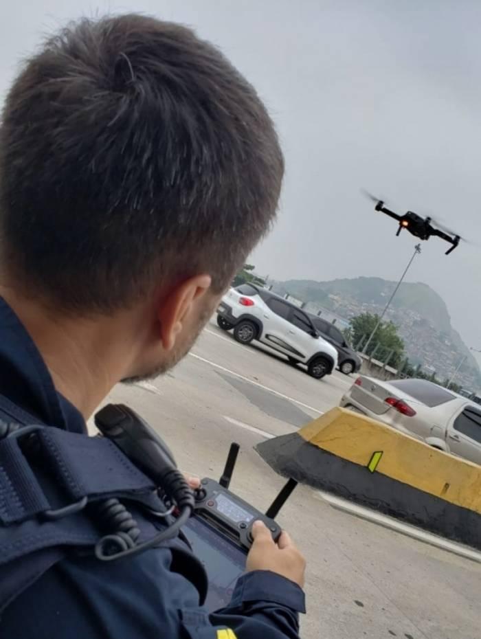 Drones vão auxiliar nas operações da Polícia Rodoviária Federal na BR-101, altura da Niterói/Manilha