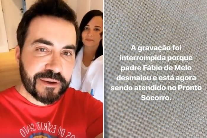 Padre Fábio de Melo tem desmaio súbito durante exame de sangue