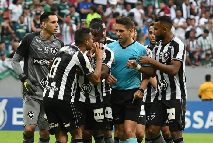 Botafogo perdeu para o Palmeiras