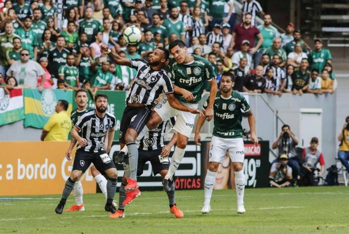 Botafogo foi derrotado pelo Palmeiras