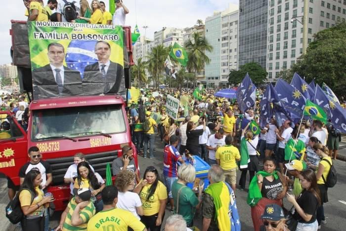 Manifestações em apoio ao governo Bolsonaro