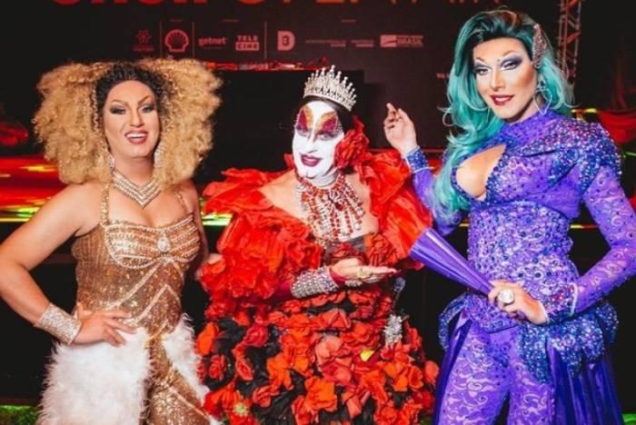 Samara Rios, Isabelita dos Patins e Vick Diamond no 'Shell Open Air'