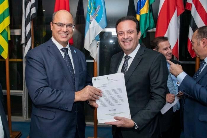 O governador Witzel trouxe André Moura à Secretaria da Casa Civil