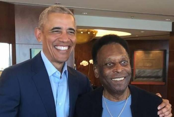 Obama e Pelé se conheceram em São Paulo
