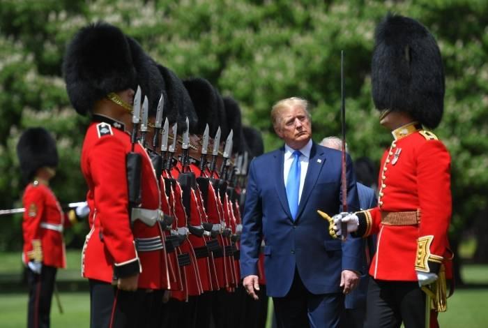 Donald Trump em visita a Londres