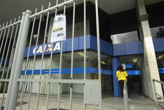 Na foto, Agência da Caixa na Rua Jardim Botânico, Zona Sul do Rio.