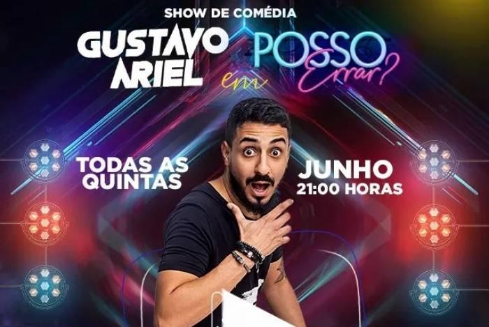 Gustavo Ariel estreia seu espetáculo no Teatro Miguel Falabella
