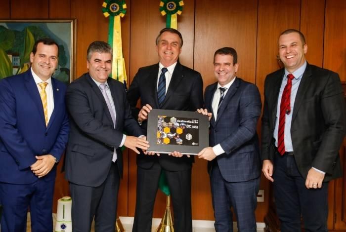 Presidente recebeu o prefeito de Duque de Caxias, Washington Reis, para uma reunião em Brasília