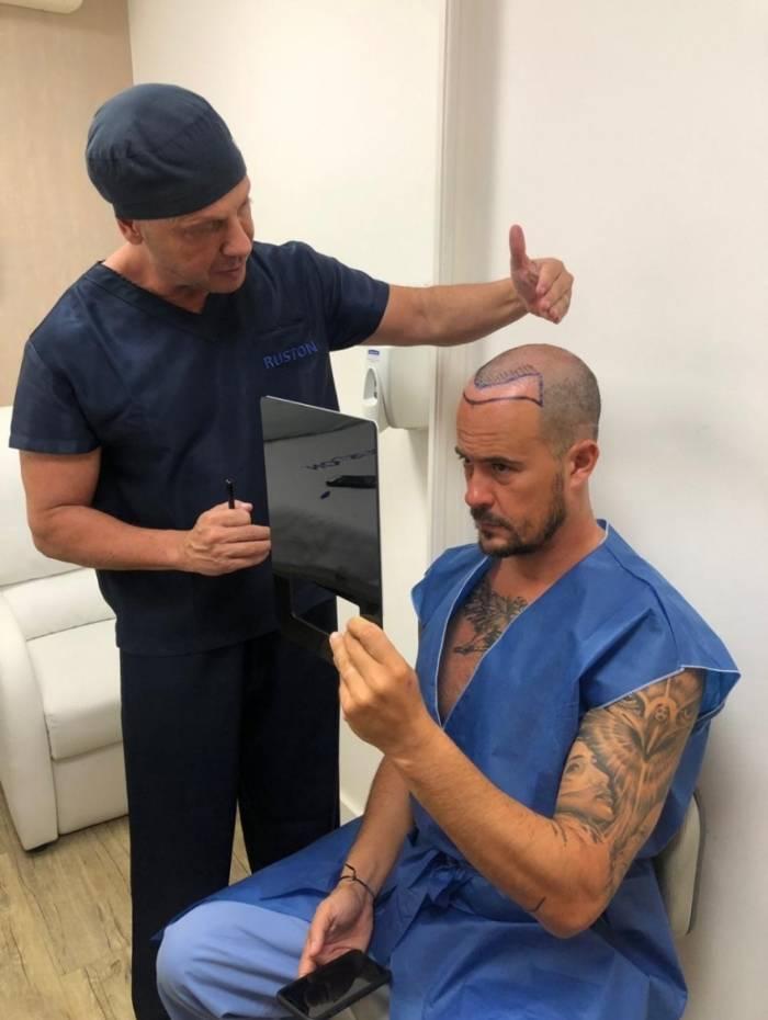 Paulinho Vilhena e o médico Antonio Ruston