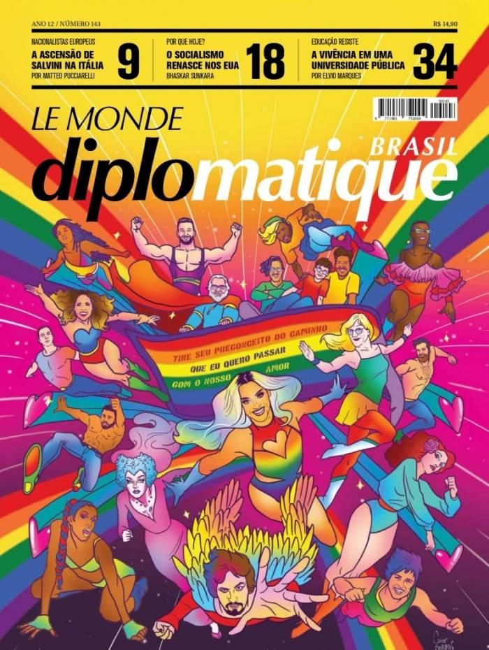 Revista traz capa com personalidades brasileiras LGBTs como super-heróis