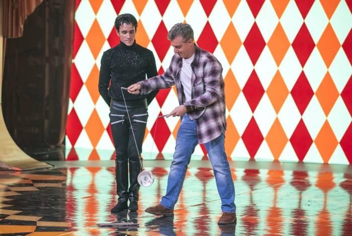 Luciano Huck no quadro 'Gonga la gonga'