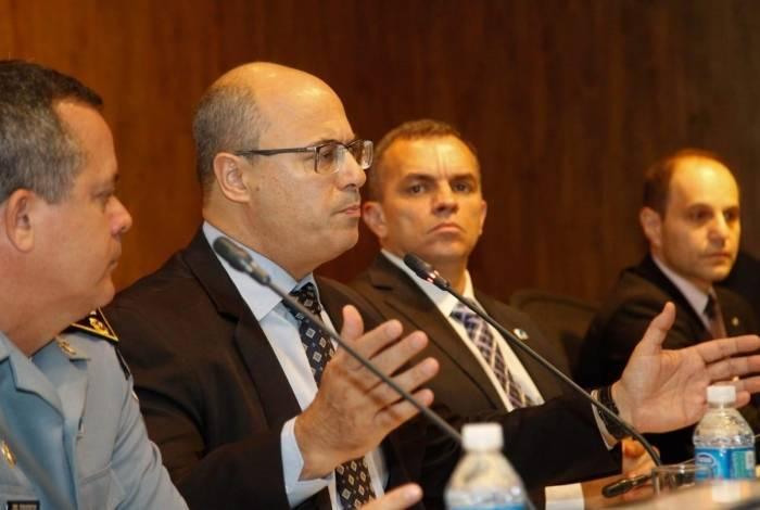 Governador Wilson Witzel e Marcus Vinícius Braga