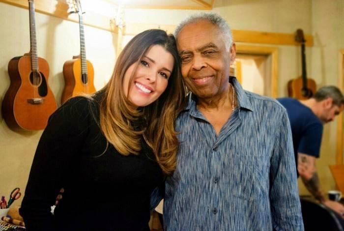 Nádia Figueiredo e Gilberto Gil