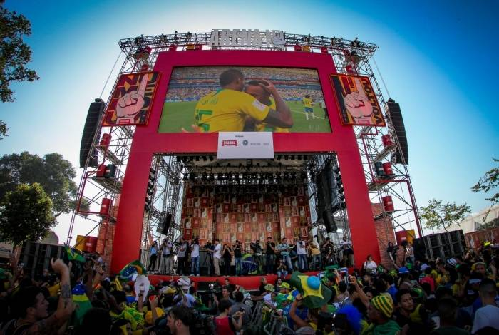 Copa América, na Praça Mauá