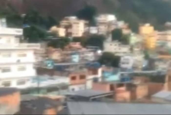 Vídeo mostra intenso tiroteio no Vidigal