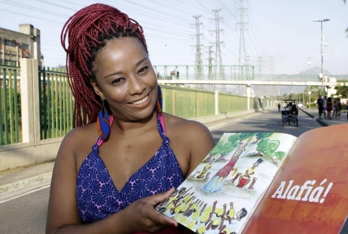 Sinara Rúbia, autora do livro 'Alafiá, a Princesa Guerreira': empoderamento