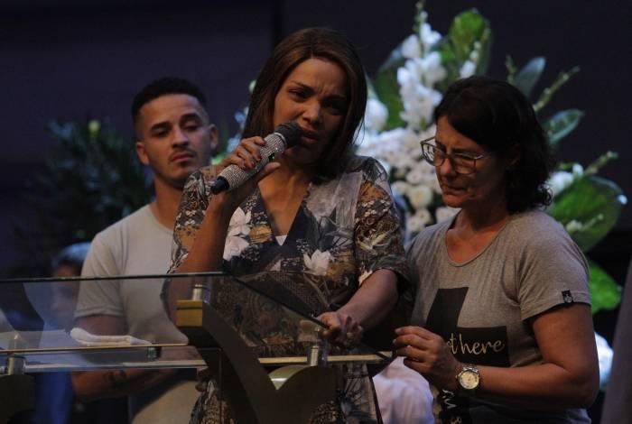 Velório do pastor Anderson do Carmo de Souza, marido da deputada federal e cantora gospel Flordelis (PSD-RJ)