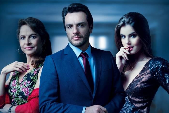 Carolina (Drica Moares), Alex (Rodrigo Lombardi) e Angel (Camila Queiroz), de 'Verdade Secretas'