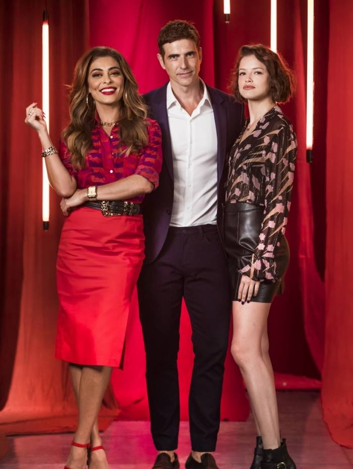 Maria da Paz (Juliana Paes), Régis (Reynaldo Gianecchini) e Josiane (Agatha Moreira)