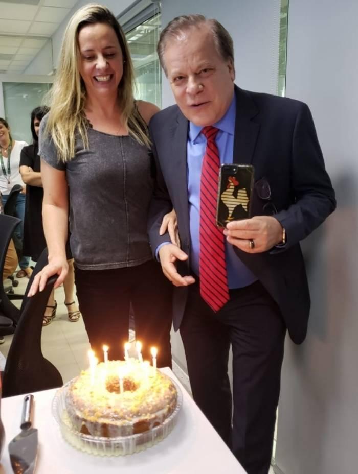 Chico Pinheiro e a mulher, Leda Rielli