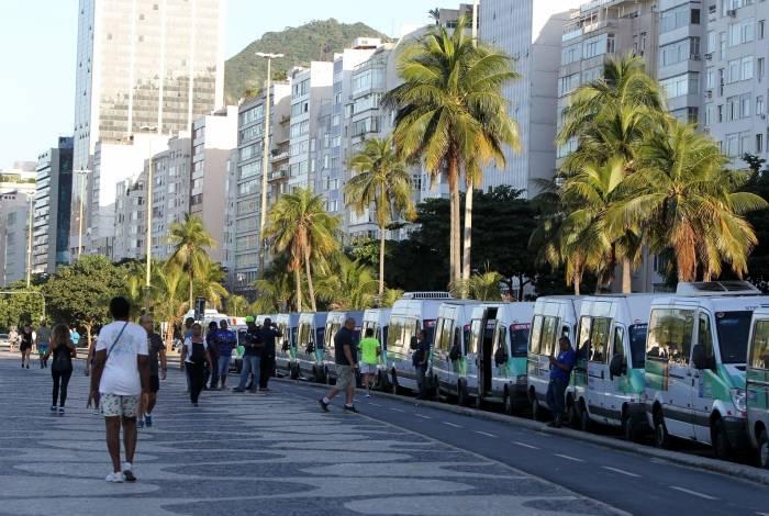 Grupo se reuniu no Leme para sair em carreata em direção a Botafogo