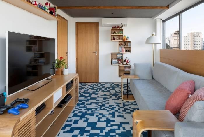 Os tapetes podem dar um outro astral para os ambientes e ainda trazer aconchego para a sala