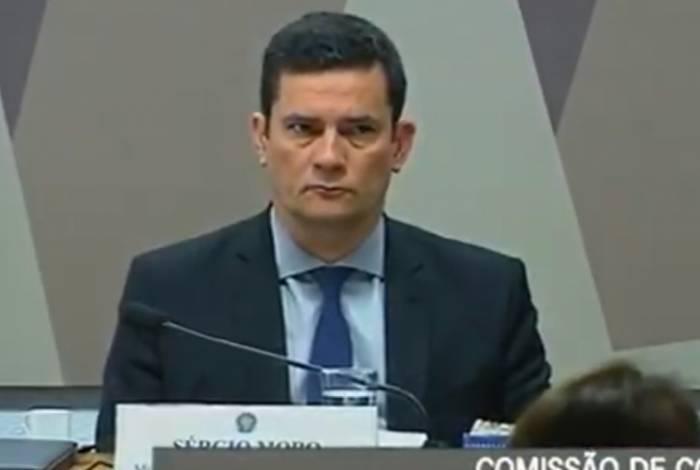 Ministro da Justiça, Sergio Moro, na CCJ do Senado