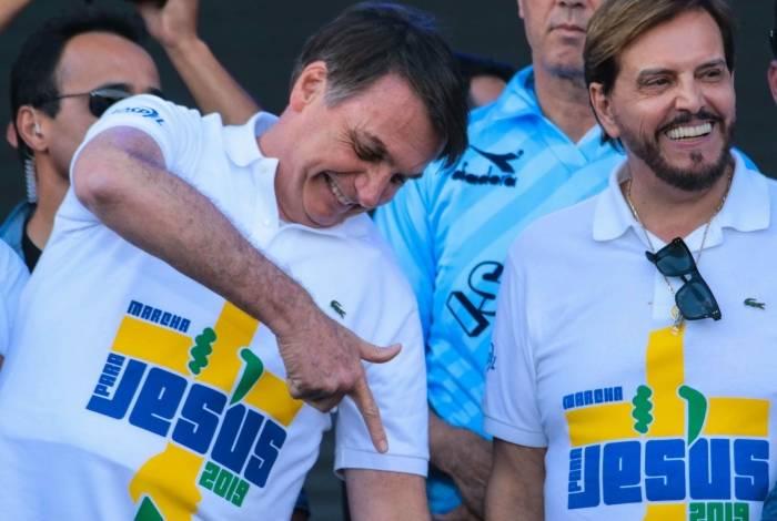 Presidente da República, Jair Bolsonaro, participa da Marcha Para Jesus