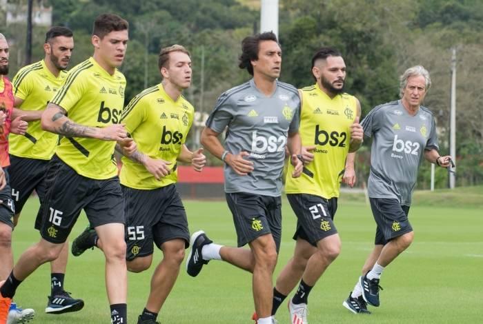 54dc78a9e3 O primeiro treino do técnico Jorge Jesus no Flamengo, no Ninho do Urubu
