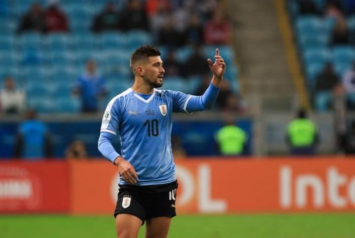 Com uma lesão no joelho, Arrascaeta ficou de fora da lista de convocados para os amistosos do Uruguai contra Hungria e Argentina