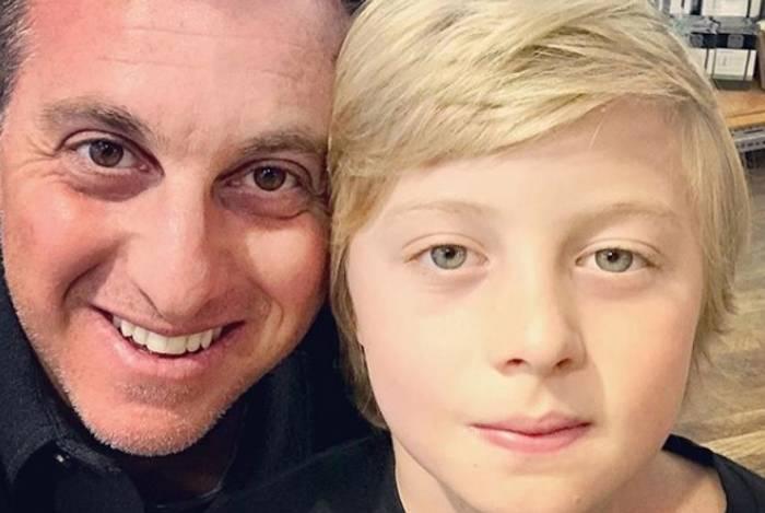 Luciano Huck e o filho, Benício