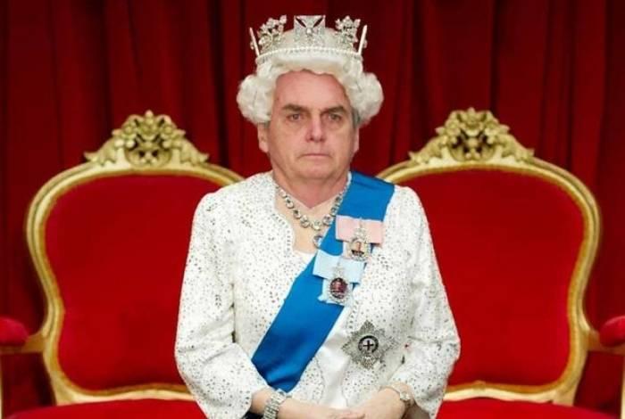 Após se comparar com rainha da Inglaterra, Bolsonaro vira meme nas redes sociais