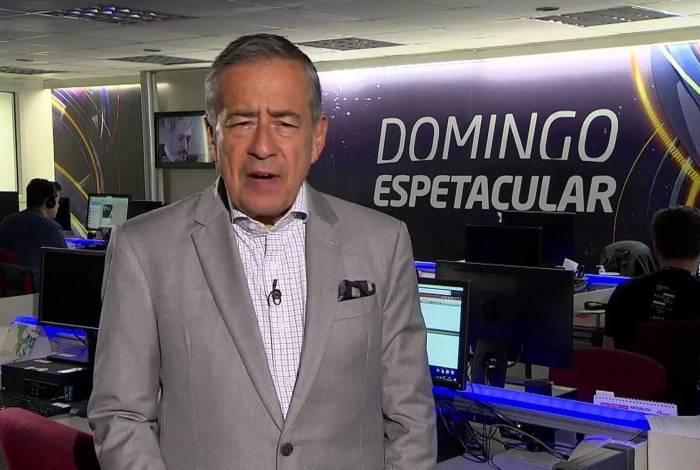 Paulo Henrique Amorim, no comando do 'Domingo Espetacular'