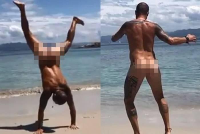 Paulo Vilhena posta vídeo em que aparece peladão na Espanha