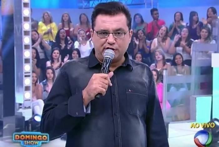 Geraldo Luis no 'Domingo Show' antes da reformulação